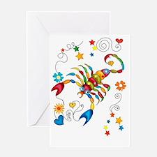 Horoscope Scorpio Zodiac Sign Greeting Card