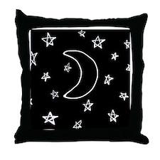 shower star night Throw Pillow