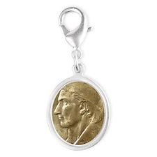 Daniel Boone Half Dollar Coin  Silver Oval Charm