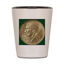 Daniel Boone Half Dollar Coin  Shot Glass