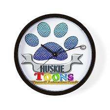 Huskie Toons 2013 logo Wall Clock