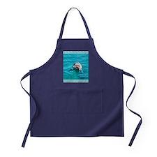 Dolphin Blue Water Apron (dark)