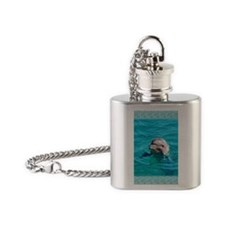 Dolphin Blue Water Flask Necklace