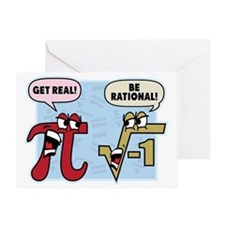 Get Real Be Rational Greeting Card