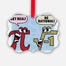 Get Real Be Rational Ornament