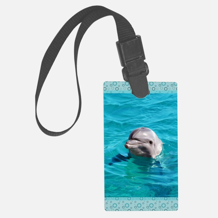 Dolphin Blue Water Luggage Tag