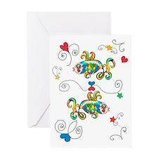Pisces Horoscope Zodiac Symbol Greeting Card
