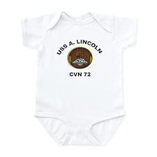 USS Abraham Lincoln CVN 72 Infant Bodysuit