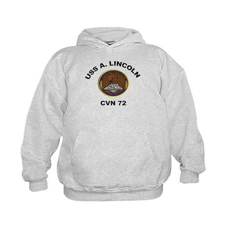 USS Abraham Lincoln CVN 72 Kids Hoodie