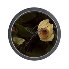 Rose  Berries Wall Clock