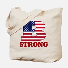 b strong(blk) Tote Bag