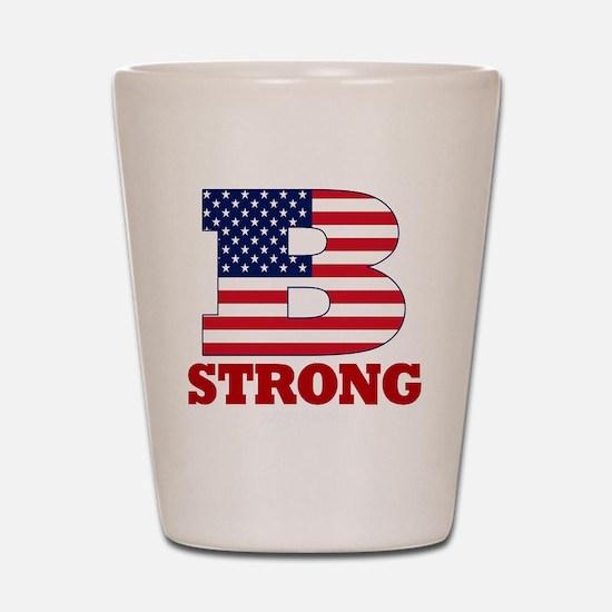 b strong(blk) Shot Glass