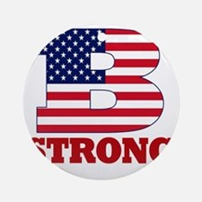 b strong(blk) Round Ornament