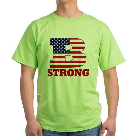 b strong(blk) Green T-Shirt