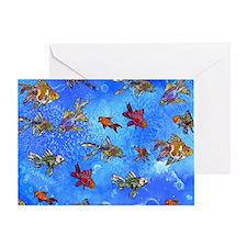 Wild Goldfish Greeting Card