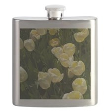 White Tulips Flask