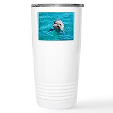 Dolphin Blue Water Travel Coffee Mug