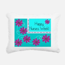 HAPPY NURSES WEEK BLUE 1 Rectangular Canvas Pillow