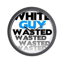 White Guy Wasted faded Wall Clock
