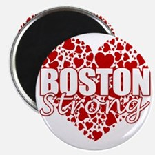 boston heart(blk) Magnet