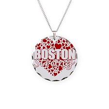 boston heart(blk) Necklace
