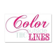 COLOR OUTSIDE THE LINES Car Magnet 20 x 12