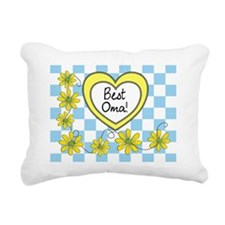 Best Oma Yellow Rectangular Canvas Pillow