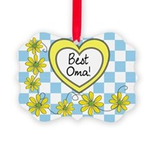 Best Oma Yellow Ornament
