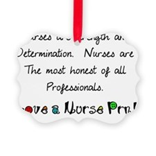 nurses are strength shirt Ornament