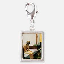 Edward Hopper Hotel Room Silver Portrait Charm