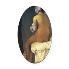 Jean Auguste Dominique Ingres The  Oval Car Magnet