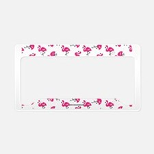Dancing Flamingos License Plate Holder