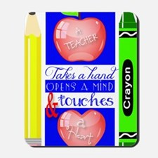 Teacher Touches a Heart Image Mousepad