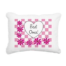 Best Oma Pink daisies Rectangular Canvas Pillow