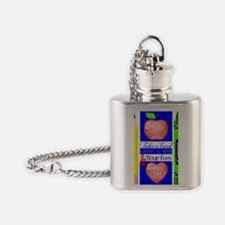 Teacher Touches a Heart Image Flask Necklace
