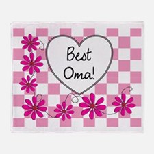 Best Oma Pink daisies Throw Blanket