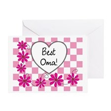 Best Oma Pink daisies Greeting Card