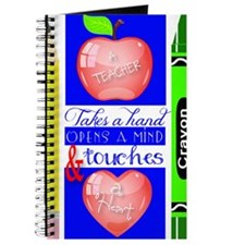 Teacher Touches a Heart Image Journal