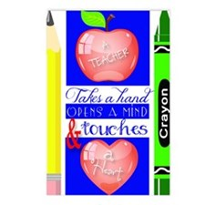 Teacher Touches a Heart I Postcards (Package of 8)