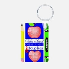 Teacher Touches a Heart Im Aluminum Photo Keychain