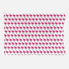 Flamingos Marching White Pillow Case
