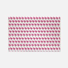 Flamingos Marching White Rectangle Magnet