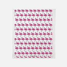 Flamingos Marching Throw Blanket
