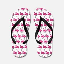 Flamingos Marching Flip Flops