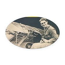 André de Meulemeester Oval Car Magnet