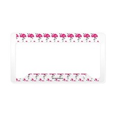 Flamingos Marching License Plate Holder