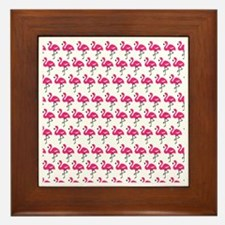 Flamingos Marching Framed Tile
