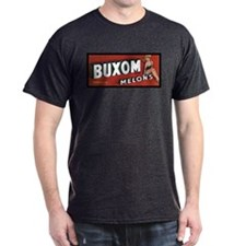 Buxom Melons Charcoal T-Shirt