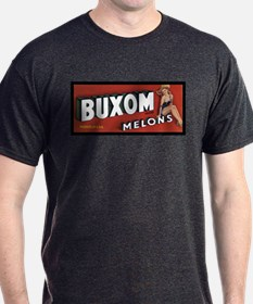 Buxom Melons Charcoal T-Shirt