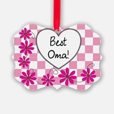 Best Oma Pink daisies Ornament